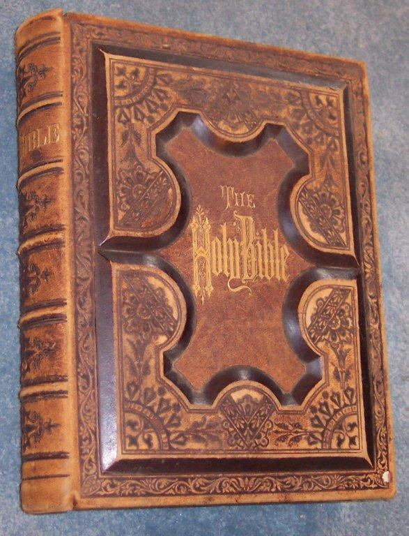 Antiques United Large 1835 Antique Holy Bible **professionally Restored** Beautiful Finely Processed